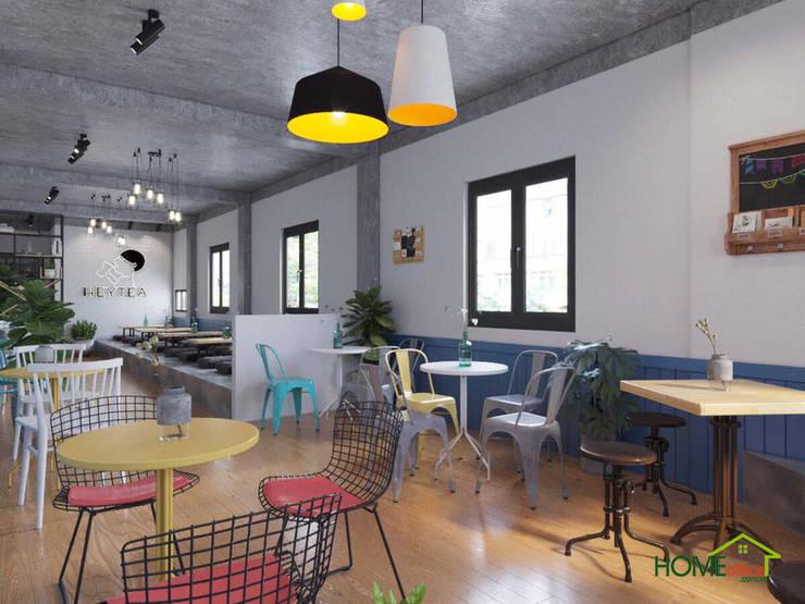 Quán trà sữa có nhiều khung cửa sổ sáng đẹp:  Sàn by Home Office