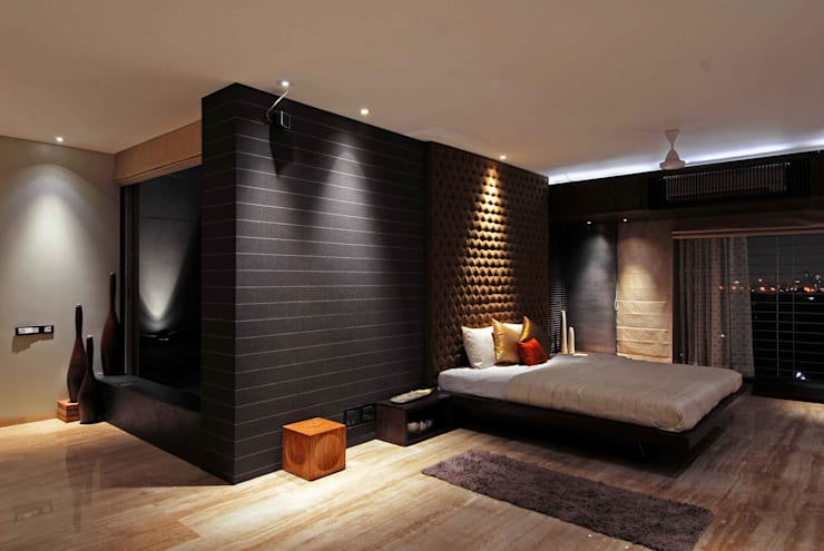 BANDRA RESIDENCE:  Bedroom by smstudio,Modern