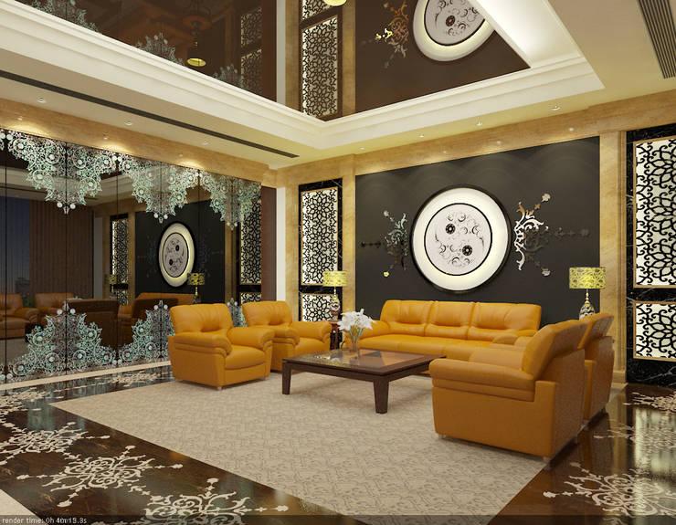 SEA BREEZE:  Living room by smstudio,Modern