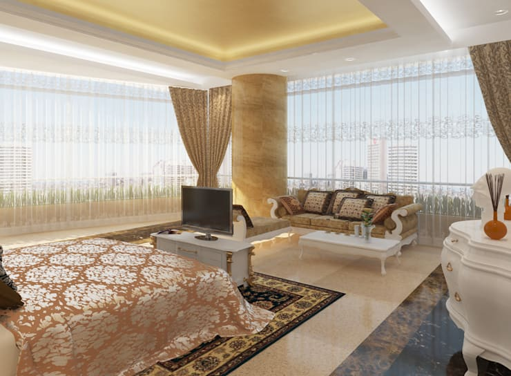 SEA BREEZE:  Bedroom by smstudio,Modern