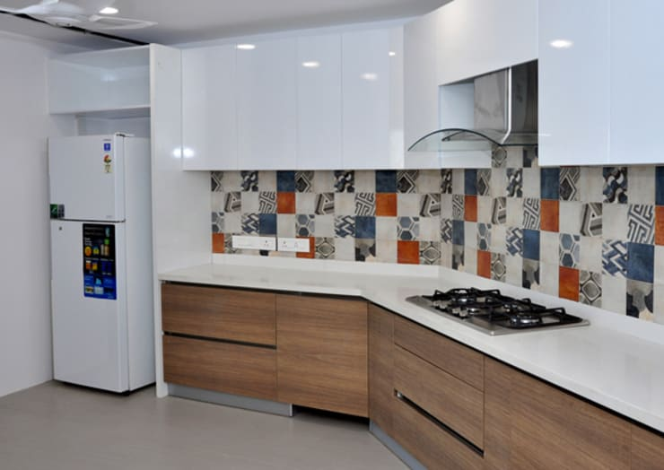 Modular Kitchen in Chennai- woodsworth: classic  by Woods Worth Industry,Classic Glass