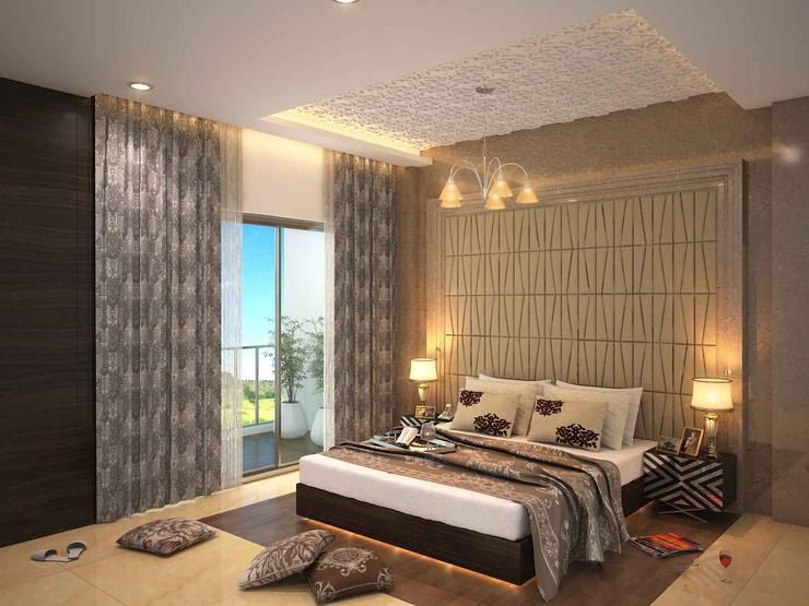 SKYGOLF: modern Bedroom by smstudio