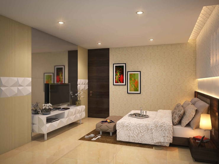 SKYGOLF:  Bedroom by smstudio,Modern