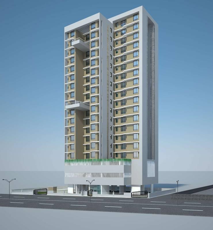 BALAJI ENCLAVE:  Houses by smstudio,Modern