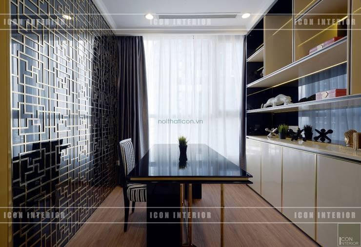 Phong cách Tân Cổ Điển trong thiết kế nội thất căn hộ Vinhomes Central Park:  Phòng học/Văn phòng by ICON INTERIOR