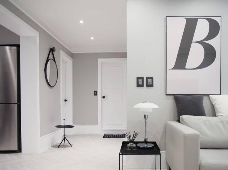 북유럽 감성을 가득 담은 20평대 주택 인테리어: husk design 허스크디자인의  거실,