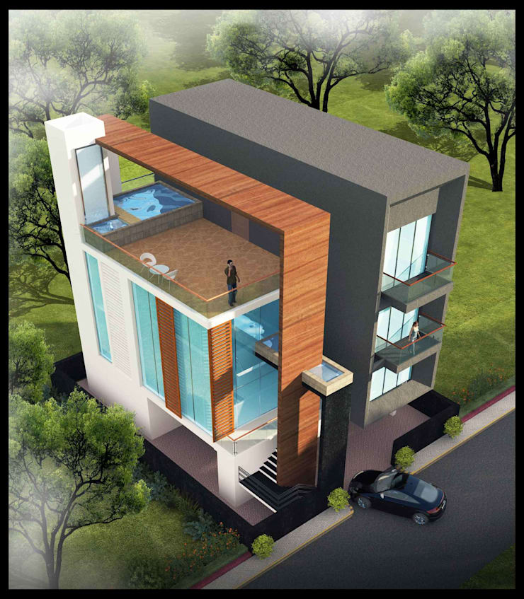 SHRI KRISHNA HOUSE:  Houses by smstudio,Modern