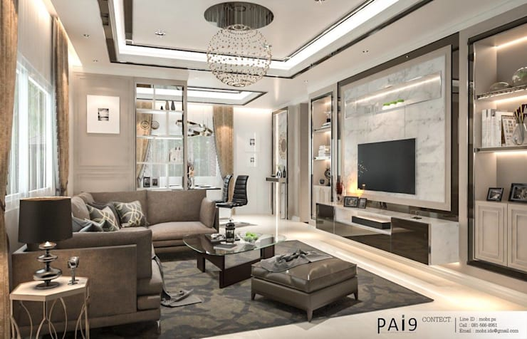 Project : Perfect Park Ratchapruek:  ห้องนั่งเล่น by PAI9 Interior Design Studio