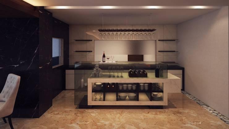 ICICI GUEST HOUSE HYDERABAD:  Wine cellar by smstudio,Modern