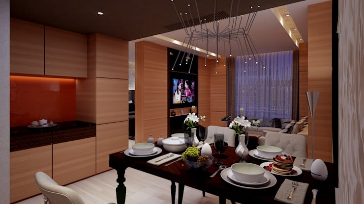 ICICI GUEST HOUSE HYDERABAD:  Dining room by smstudio,Modern