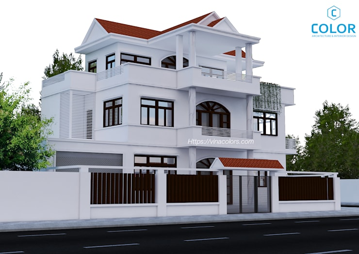 Thiết kế biệt thự phố:   by COLOR DECOR