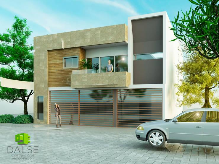 Fachada casa habitacion: Casas unifamiliares de estilo  por DALSE Construccion & Remodelación
