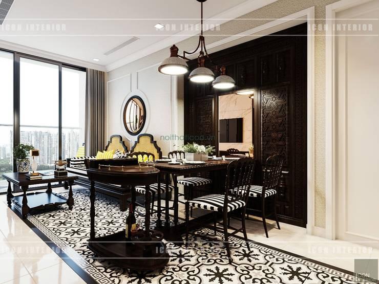 Thiết kế căn hộ Vinhomes Golden River - Phong cách thiết kế mang tiếng vọng xưa:  Phòng ăn by ICON INTERIOR