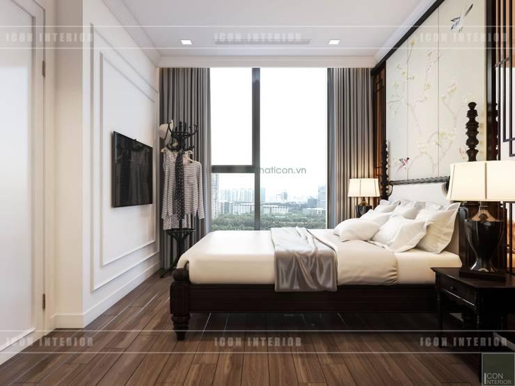 Thiết kế căn hộ Vinhomes Golden River – Phong cách thiết kế mang tiếng vọng xưa:  Phòng ngủ by ICON INTERIOR