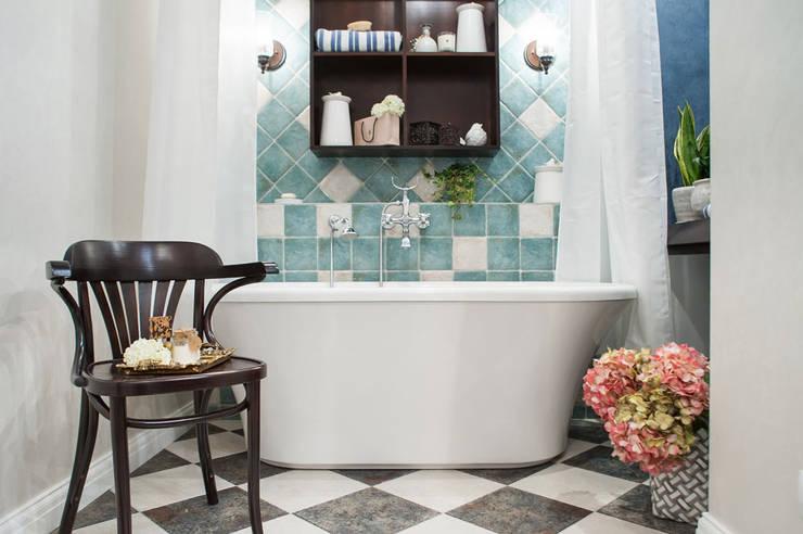 КВАРТИРА В СТИЛЕ ФЬЮЖН. : Ванные комнаты в . Автор – 'Студия дизайна Марины Кутеповой'