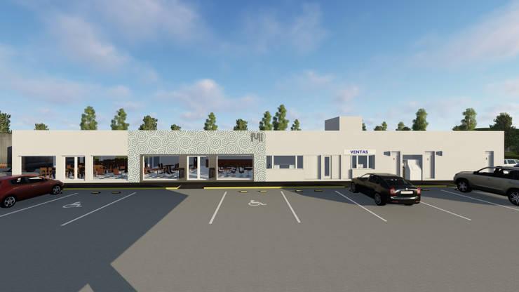 YPF LOS CONDORES: Oficinas y Tiendas de estilo  por PRIGIONI Arquitectura y Diseño,