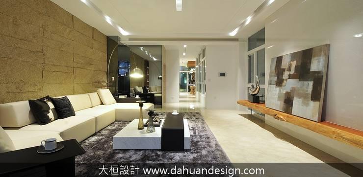 大桓設計-室內設計-極上之墅:  客廳 by 大桓設計顧問有限公司