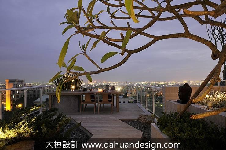 大桓設計-景觀設計-極上之墅:  露臺 by 大桓設計顧問有限公司
