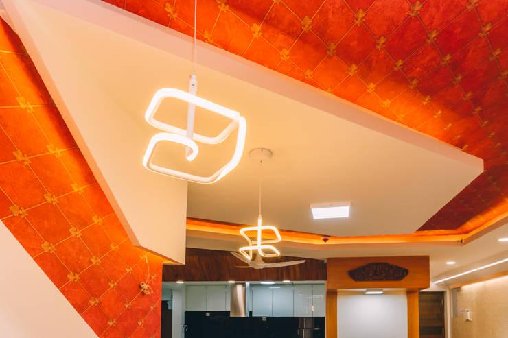 False Ceiling - Origami Spaces(Origamispaces.com):  Living room by Origami Space Design