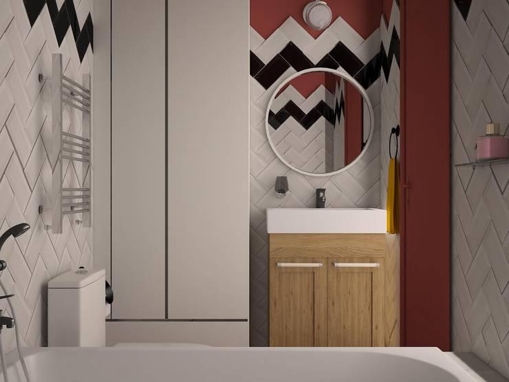 Монмартр: Ванные комнаты в . Автор –  Яна Васильева. дизайн-бюро ya.va, Эклектичный