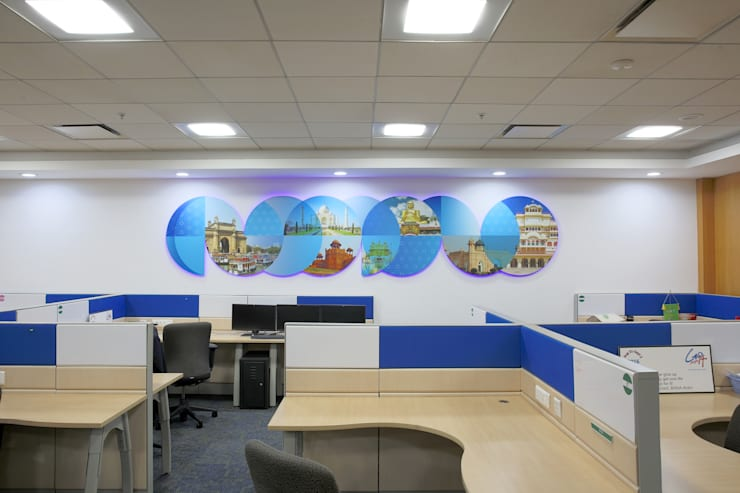 P&G OFFICE:  Study/office by smstudio,Modern