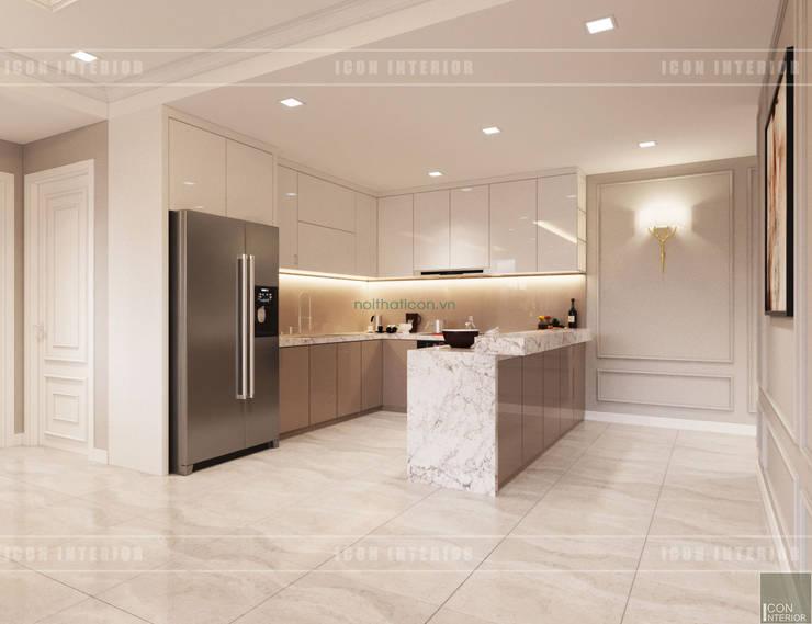 Thiết kế căn hộ Gateway Thảo Điền sang trọng và thanh lịch – Phong cách Tân Cổ Điển:  Nhà bếp by ICON INTERIOR