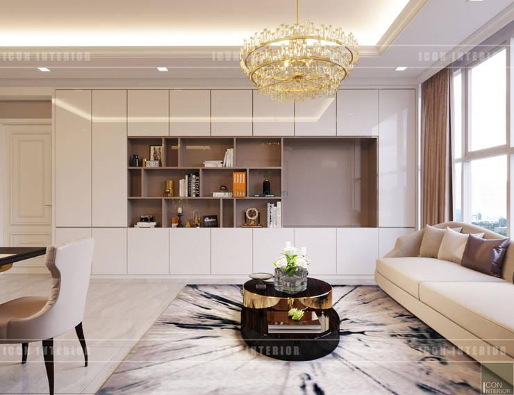 Thiết kế căn hộ Gateway Thảo Điền sang trọng và thanh lịch – Phong cách Tân Cổ Điển:  Phòng khách by ICON INTERIOR