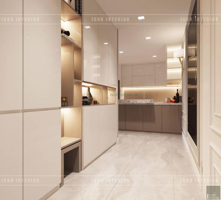 Thiết kế căn hộ Gateway Thảo Điền sang trọng và thanh lịch – Phong cách Tân Cổ Điển:  Cửa ra vào by ICON INTERIOR