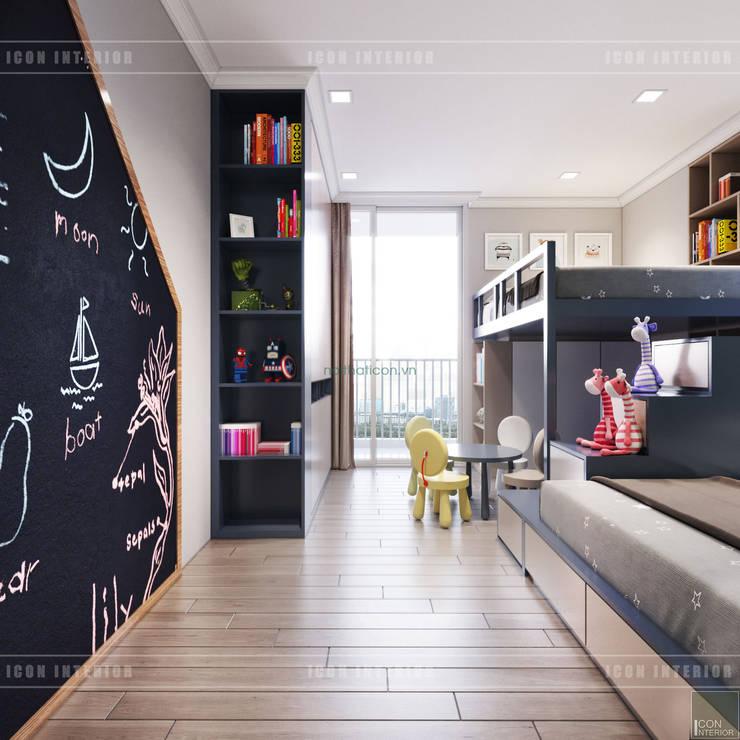 Thiết kế căn hộ Gateway Thảo Điền sang trọng và thanh lịch – Phong cách Tân Cổ Điển:  Phòng trẻ em by ICON INTERIOR
