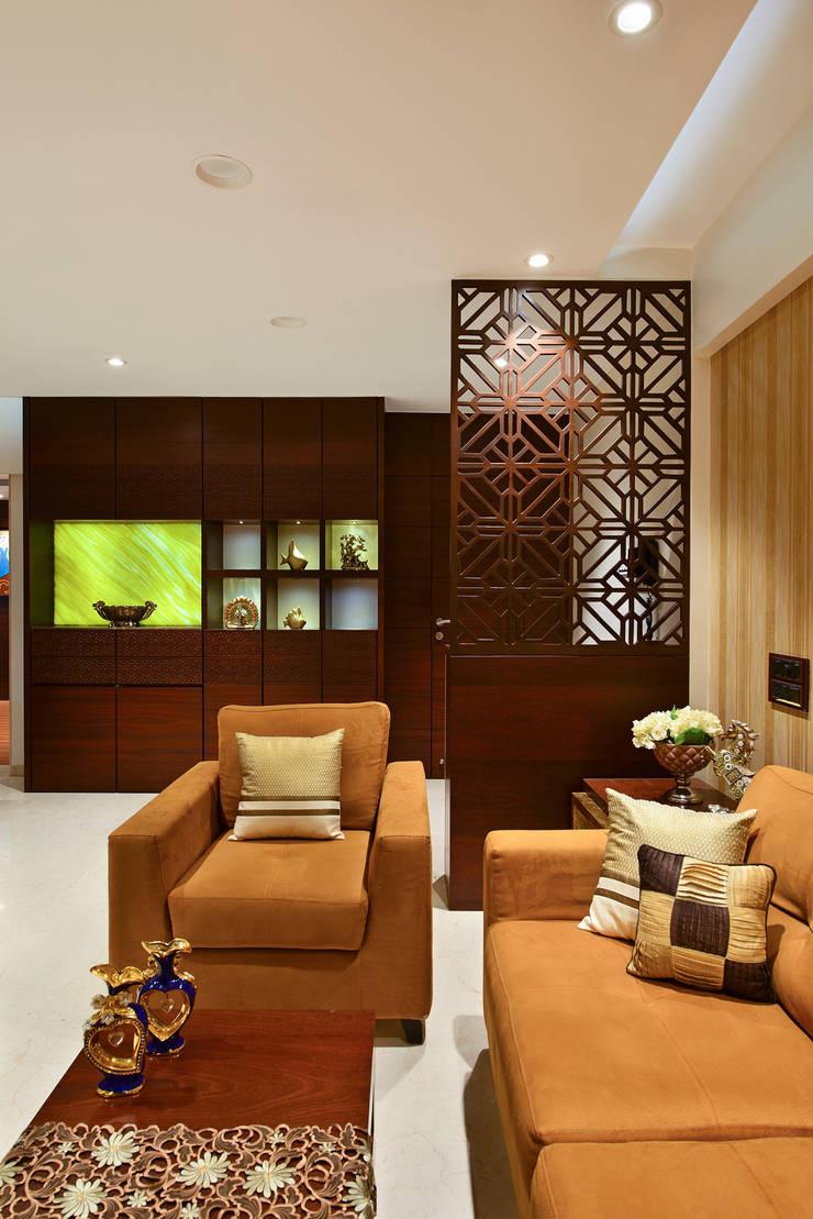 PRIVATE RESIDENCE SANTACRUZ:  Living room by smstudio,Modern