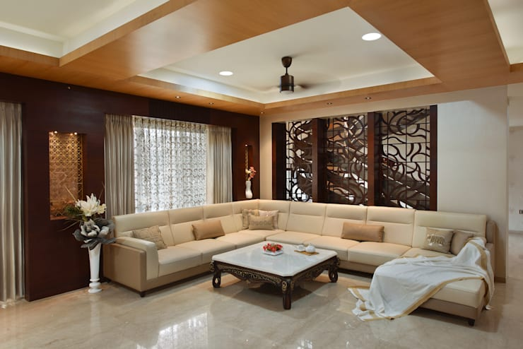 DAHANU- VIJAY GHODAWAT:  Living room by smstudio