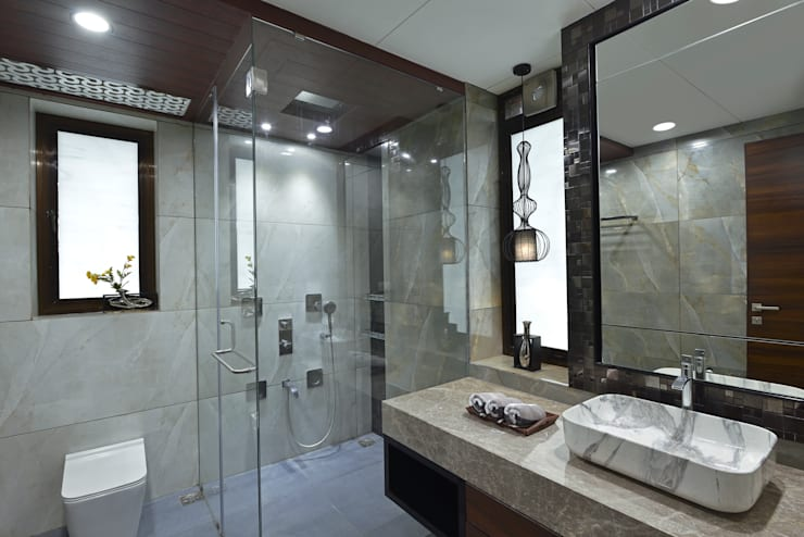 DAHANU- VIJAY GHODAWAT: modern Bathroom by smstudio