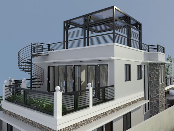 MODERN DESIGN OF HOUSE:   by Dennis Gomez CAD Services