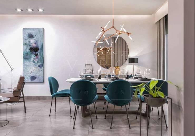 VERO CONCEPT MİMARLIK – Primus Villa Güzelbahçe:  tarz Yemek Odası