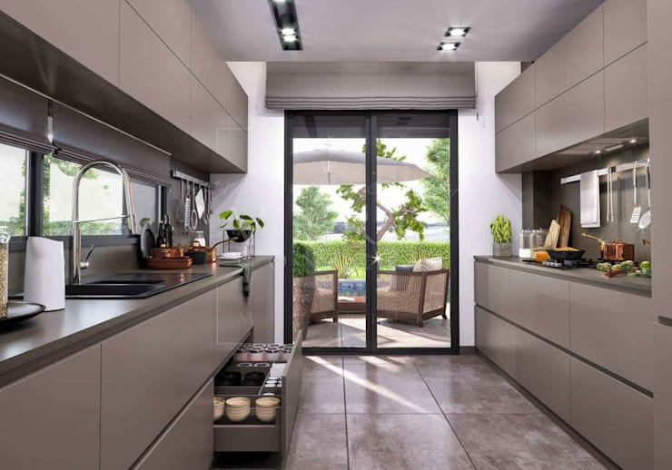 VERO CONCEPT MİMARLIK – Primus Villa Güzelbahçe: tarz Mutfak