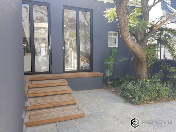 Completion - Exterior Courtyard:   by Renov8 CONSTRUCTION