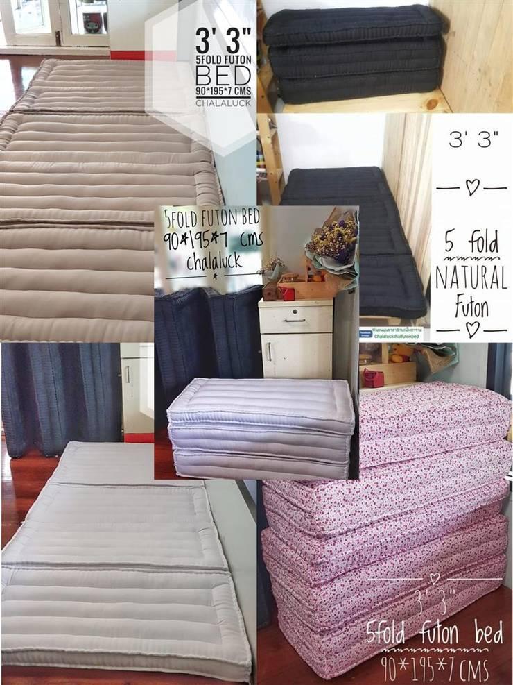 ที่นอนพับได้ ที่นอนพับสามตอน 3 fold futon bed :  ห้องนอน by chalaluck