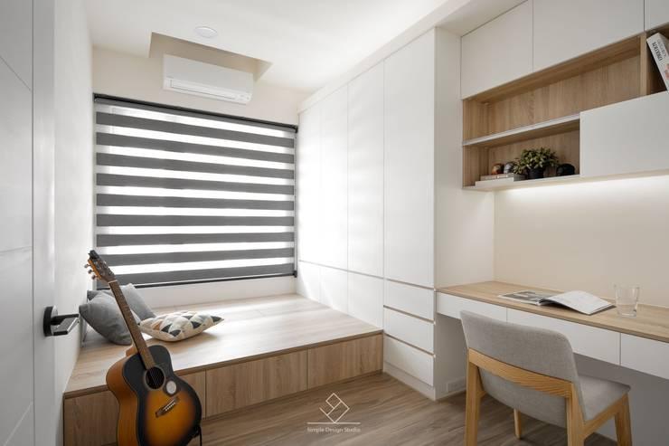 Phòng học/Văn phòng by 極簡室內設計 Simple Design Studio