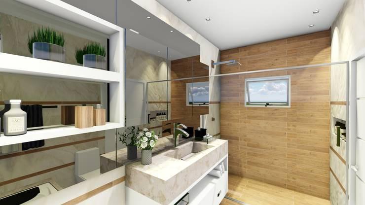Projeto Banho Suite Casal: Banheiros  por Carla Maldaner Home&Design