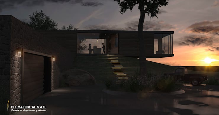 Concurso Visualización Arquitectónica: Casas de estilo moderno por PLUMA DIGITAL SAS.