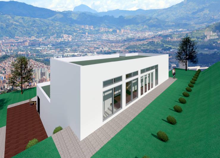 VU - 4 - VIVIENDA RESIDENCIAL UNIFAMILIAR : Casas de estilo  por RR Arquitecto, Moderno