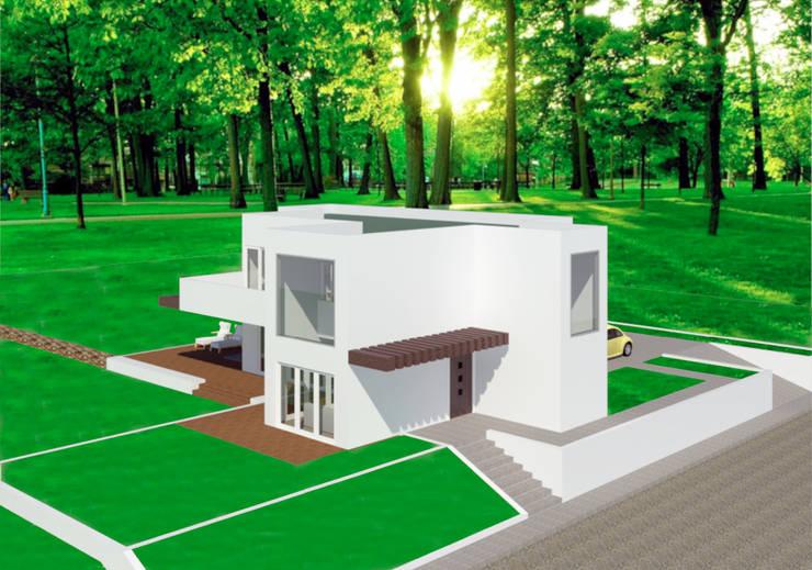 VU – 5 – VIVIENDA RESIDENCIAL UNIFAMILIAR: Casas de estilo  por RR Arquitecto