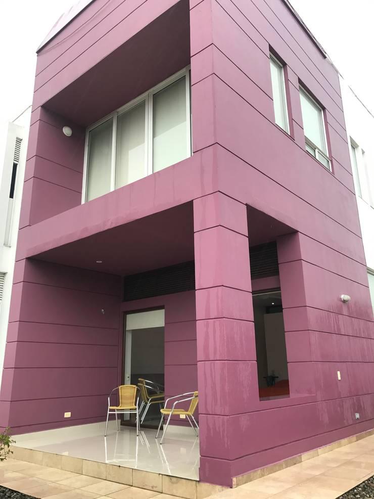 CASAS SIAMESAS ANAPOIMA: Casas campestres de estilo  por RIVAL Arquitectos  S.A.S.
