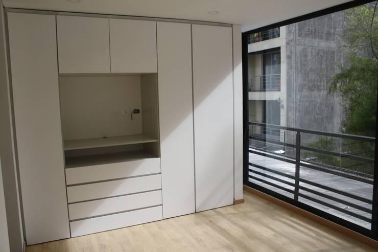 REMODELACION APARTAESTUDIO: Habitaciones de estilo moderno por RIVAL Arquitectos  S.A.S.
