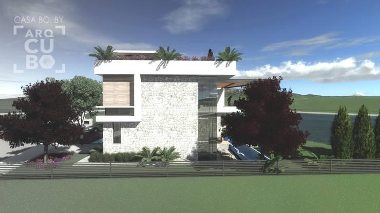 CASA BO.: Casas de estilo  por ArqCubo