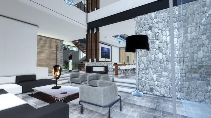 SALA: Salas de estilo  por ArqCubo