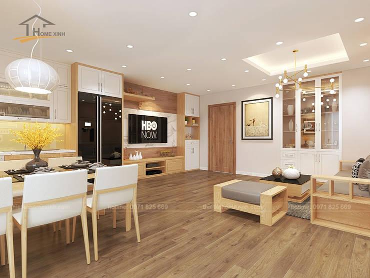 Sala da pranzo moderna di THIẾT KẾ HOMEXINH Moderno