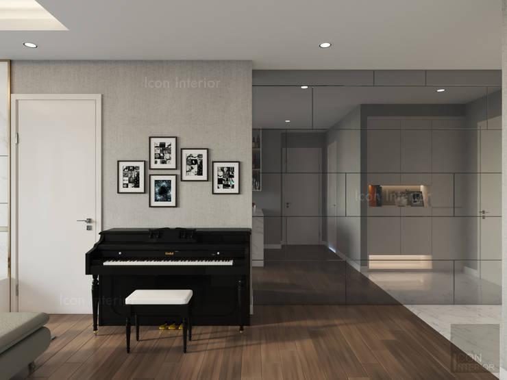 Phong cách hiện đại tại căn hộ Vinhomes Central Park đơn giản mà sang trọng:  Phòng khách by ICON INTERIOR