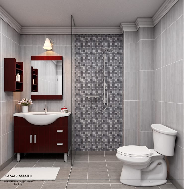 Mini Bathroom:  Kamar Mandi by Revel