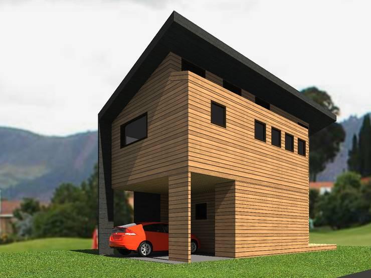 Casa Malalcahuello (2): Casas de madera de estilo  por Casabella